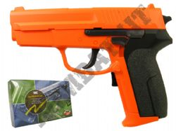 UM654 Electronic Blow Back Airsoft BB Gun Black and Orange